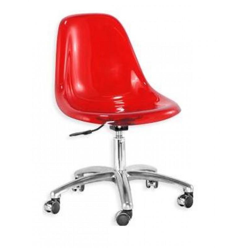 Cadeira DKR Office Acrílico Alumínio