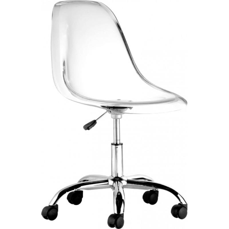 Cadeira DKR Office Policarbonato Base Cromada