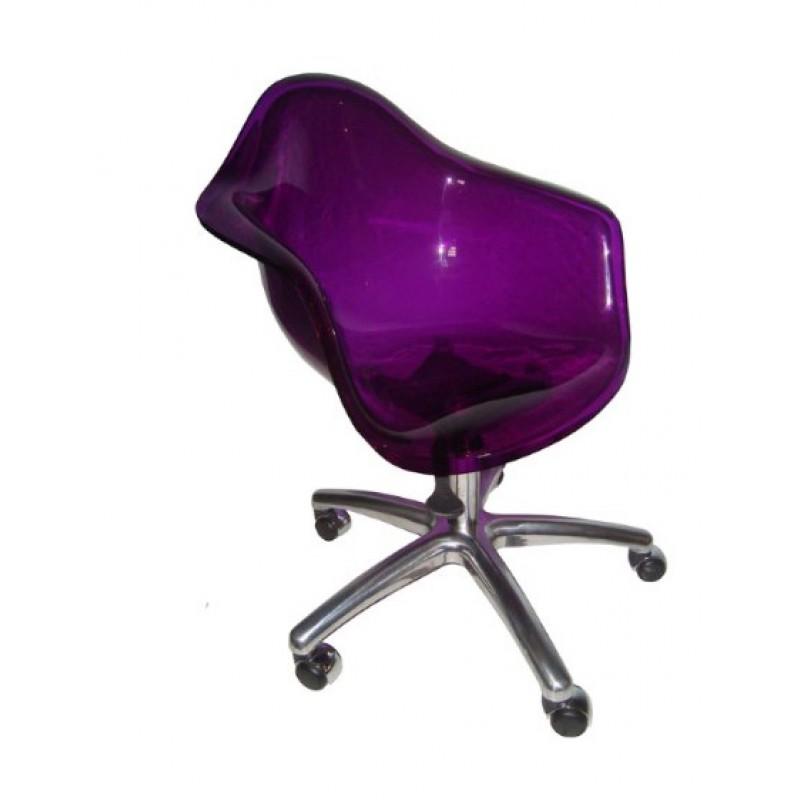Cadeira DAR Oficce Acrílico Alumínio