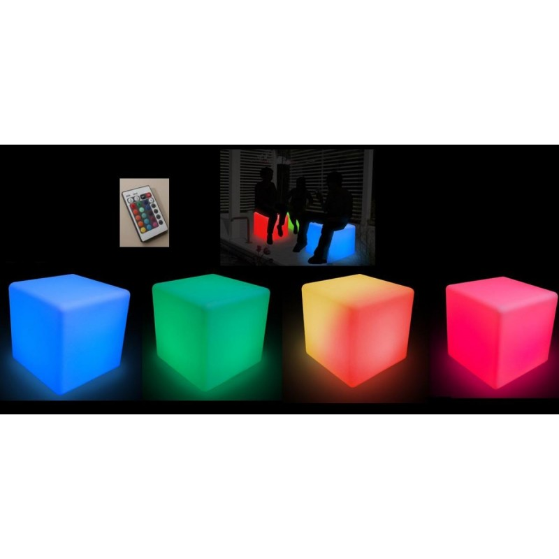 PUFF MIX LIGHT QUADRADO (com controle remoto)