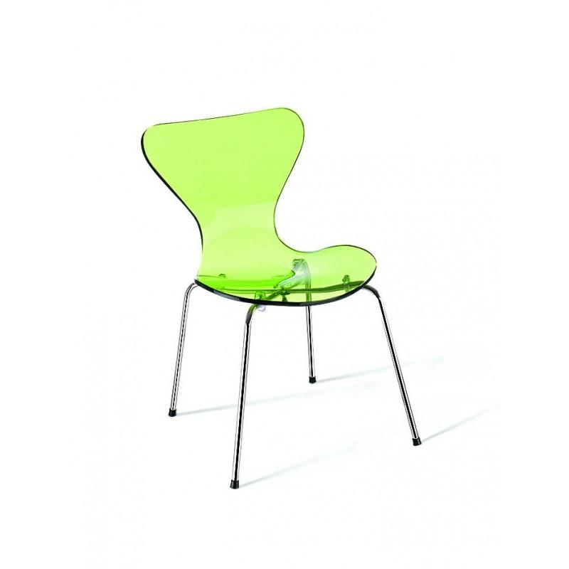 Cadeira Jacobsen Acrílico Inox