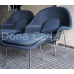 POLTRONA WOMB CHAIR COM PUFF